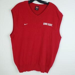 Nike Ohio State V Neck Mens Pullover Sweater Vest